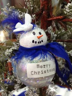 Snow Lady Christmas Ornament