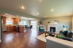 Remodeled Living Space Example, Hardwood Floors, Living Room Area, Gorgeous Cabinets, Granite, Dining Area