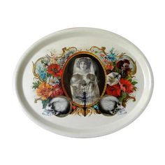 Flowers & Skull Tray Oval, £21, now featured on Fab.