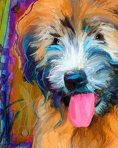 Wheaten Terrier Art by artpaw [rebecca collins], via Flickr