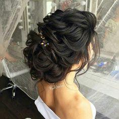 Image result for wedding hairstyles dark hair