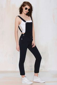 Neuw Sister Ray Overalls - Denim | Rompers + Jumpsuits