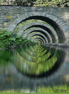 Stone Arch Bridge Over Troubled Waters by Erica Maxine Price - Place Winner Faa Optical Illusions, 2012 Magic Places, Foto Picture, Beautiful Places, Beautiful Pictures, Wonderful Places, Arch Bridge, Bridge Structure, Ouvrages D'art, All Nature