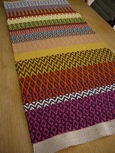 Part 8 of the image: from Sweden woven Atelier Weaving Designs, Weaving Projects, Weaving Patterns, Knitting Patterns, Textile Patterns, Loom Weaving, Hand Weaving, Swedish Weaving, Fabric Rug