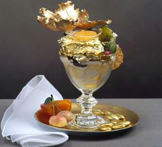 Serendipity 3: Iconic ice-cream sundae. Covered in layers of chocolate with a 23 carat gold leaf adding to its appeal, the ice-cream sets you back 1000!