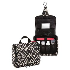 Enjoy the unique pattern Hopi Hanging Toiletry Organizer by reisenthel® and its ability to hold all your toiletries!