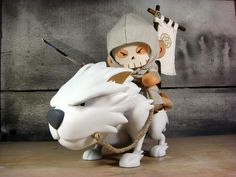 The Wolf Rider Custom Munny Vinyl Figure // One-of-a-kind hand molded toys by handmade in San Francisco Modelos Low Poly, Modelos 3d, 3d Figures, Vinyl Figures, Action Figures, Toy Art, Vinyl Toys, Vinyl Art, Wolf Rider