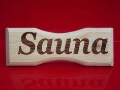 Sauna Hinweisschild »Sauna«  Kleben statt Bohren