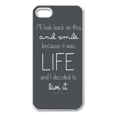 """Ed Sheeran Quotes iPhone 5 Case """"I decided to live"""""""
