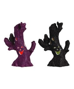 Take a look at this Purple & Black Spooky Halloween Tree Figurine Set by Transpac Imports on #zulily today!