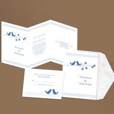 Perched Pair - Invitation @ ann's bridal bargains; simple design, nice wording $1.25