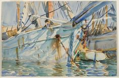 John Singer Sargent / In a Levantine Port / ca. 1905-1906 / Translucent watercolor and touches of opaque watercolor with graphite underdrawing