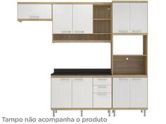 Cozinha Compacta Multimóveis Sicilia com Balcão - 9 Portas 3 Gavetas com as melhores condições você encontra no Magazine Luizadoeduardo. Confira!
