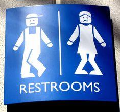 19 placas de toaletes engraçadas e criativas