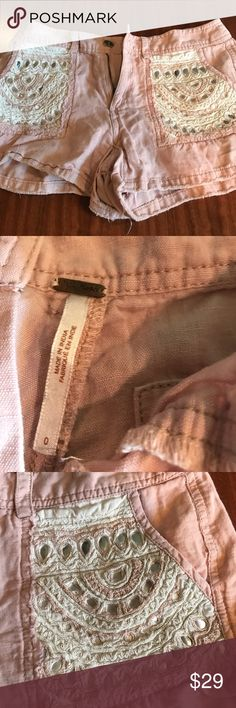 Free people shorts These shorts are so soft and beautiful.  They are in excellent condition Free People Shorts