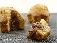 Mandises ou muffins ultra moelleux au coeur de noisette