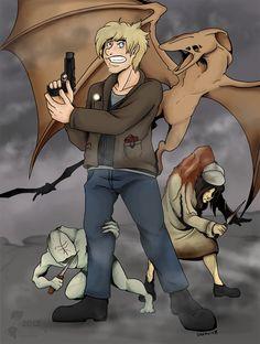 Pewdiepie in Silent Hill by RottingRoot.deviantart.com on @deviantART