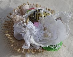Rustic Hessian & Lace Corsage