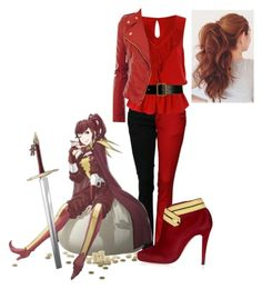 """""""fire emblem-anna"""" by didneyworl ❤ liked on Polyvore featuring Jane Norman, Christian Louboutin and Alaïa"""