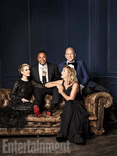 Entertainment Photo Shoot: Ryan Murphy with AHS Stars Jessica Lange, Sarah Paulson & Cuba Gooding Jr. Jessica Lange Ahs, Cuba Gooding, American Horror Story Seasons, Famous Pictures, Ryan Murphy, Anthology Series, Celebrity Photography, Horror Show, Entertainment Weekly