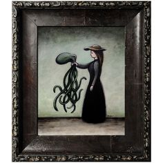 Acrylic painting 'Woman with Octopus'