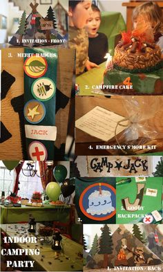 The Blackberry Vine: Camping Party Camping Parties, Camping Theme, Camping Bingo, Indoor Camping, Indoor Outdoor, Birthday Party Themes, Birthday Ideas, 7th Birthday, T 4
