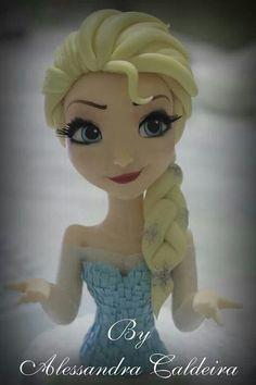 Is is fondant? Fondant Figures, Bakery Style Cake, Disney Frozen Cake, Frozen Princess, Anna Frozen, Cake Topper Tutorial, Fondant Toppers, Sugar Craft, Frozen Birthday Party