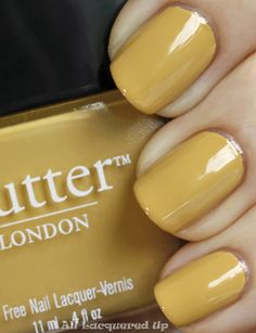 mustard yellow - what a beautiful nail paint
