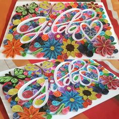 Quilling paper name
