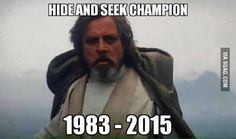Luke Skywalker, the hide and seek champion.