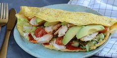 Æggewraps med kylling og avocado
