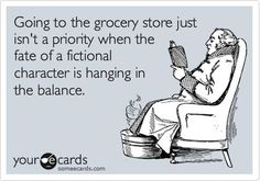 Definitely...unless the kids won't leave me alone and then shopping is a must. Hello reading in the parking lot!