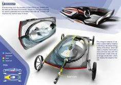 Car of the future? Drives on road but can flip onto its side and ride along a magnetic trail