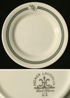 "Homer Laughlin bread plate , unknown user "" ""DAC"" .  Date code HA  ( Jan 1967)."