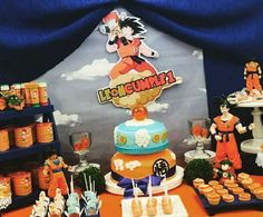 Awesome DragonBall birthday party! See more party ideas at CatchMyParty.com!