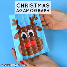 Christmas Agamograph Template 'Tis the season to be jolly and to have some fun with a Christmas Agamograph Template! This is a super fun Christmas activity for kids during the Holidays. Must do Crafts and Activities for Kids Christmas Art Projects, Christmas Activities For Kids, Christmas Crafts For Kids, Craft Activities, Christmas Fun, Holiday Crafts, Christmas Card Ideas With Kids, Spring Crafts, Christmas Cookies