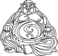 laughing buddha coloring pages printable coloring painting