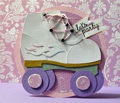 Cute roller skating party invitations