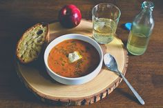 red lentil and tomato soup with dill by six course dinner