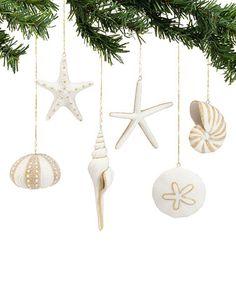 Seashell Ornament Set #zulily #zulilyfinds