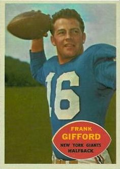 1960 Topps #74 Frank Gifford Front