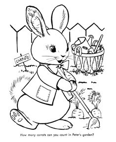 Easter Bunny Coloring Pages BlueBonkers Cute bunny free