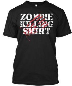 Zombie Killing Shirt Black T-Shirt Front
