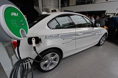 AV RS #Level2 Electric car charger charging a BMW Active-E