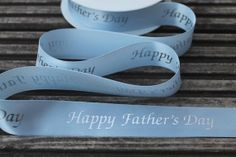 Happy Fathers Day blue printed ribbon 25mm wide by scratchycat, £0.60