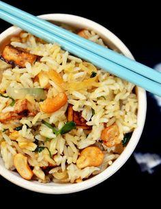 Brown Rice Bowl with Lemongrass, Cashews, and Tofu