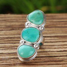 Amazing Royston  Turquoise Ring by  LaughingRiverDesign on Etsy