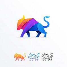 Abstract bull illustration design vector template Cartoon Drawings Of Animals, Fish Drawings, Corel Draw Design, Logo Desing, Typographic Logo, Abstract Logo, Pin Logo, Logo Concept, Illustrator Tutorials