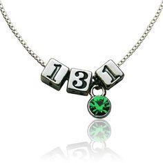 Sterling Silver 13.1 Half Marathon Beads and Swarovski Crystal Necklace | 13.1 Jewelry | Half Marathon Jewelry | Sterling Silver Running Jewelry