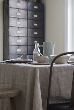 Genial And A Linen Table Cloth Can Soften The Industrial Look For Special Ocassions
